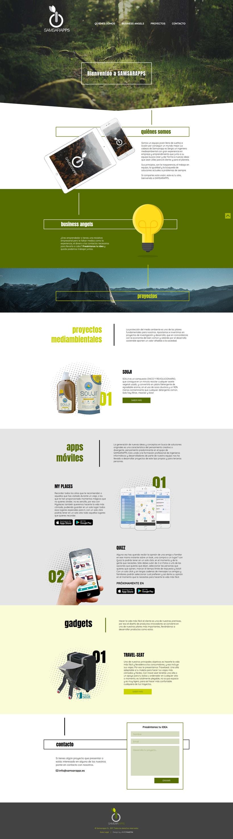 Página Web Corporativa para Samsarapps 1