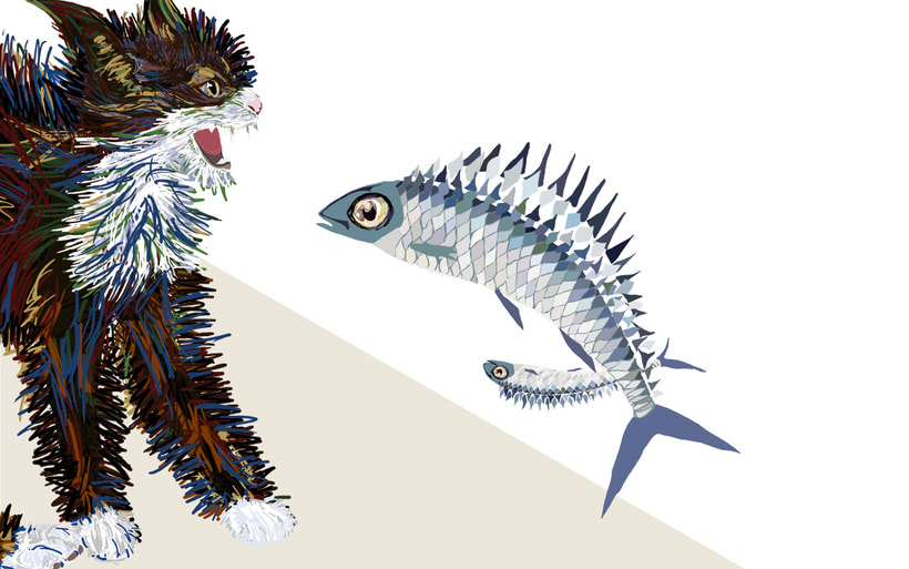 El gato y las sardinas. Proyecto personal 2