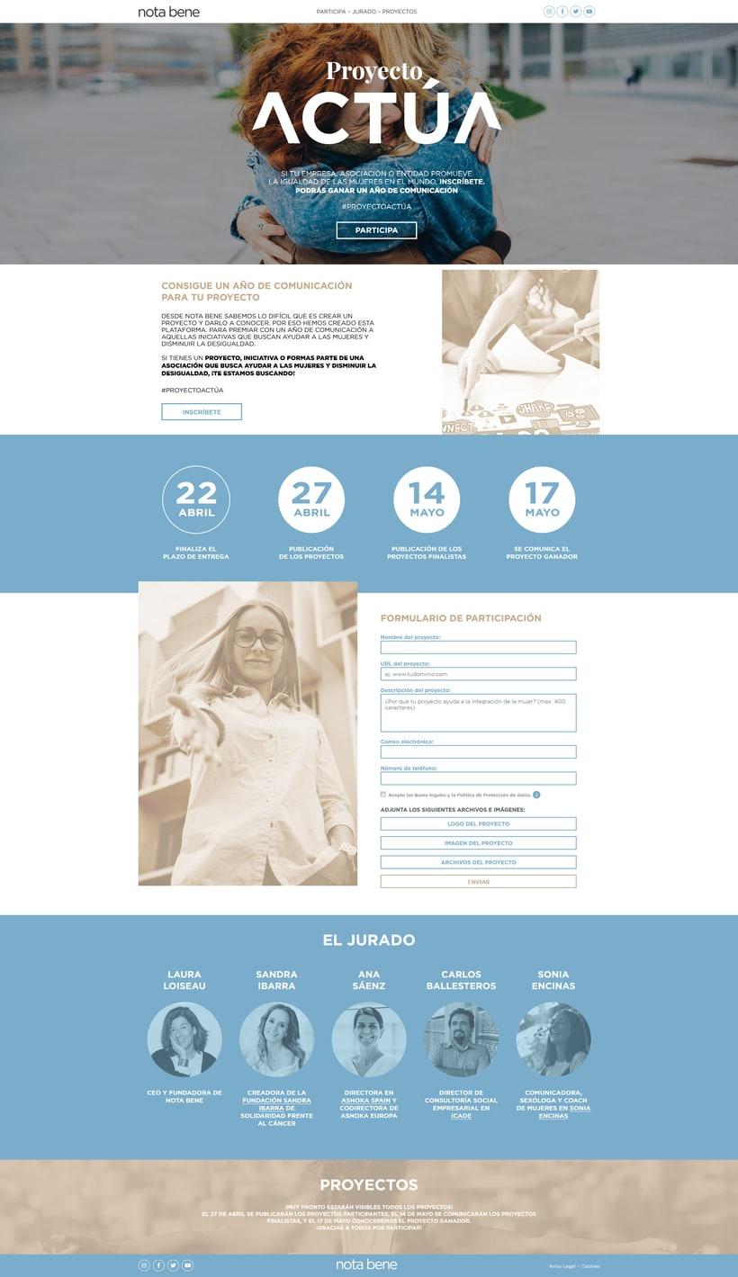 Diseño Web para Proyecto Actúa  1