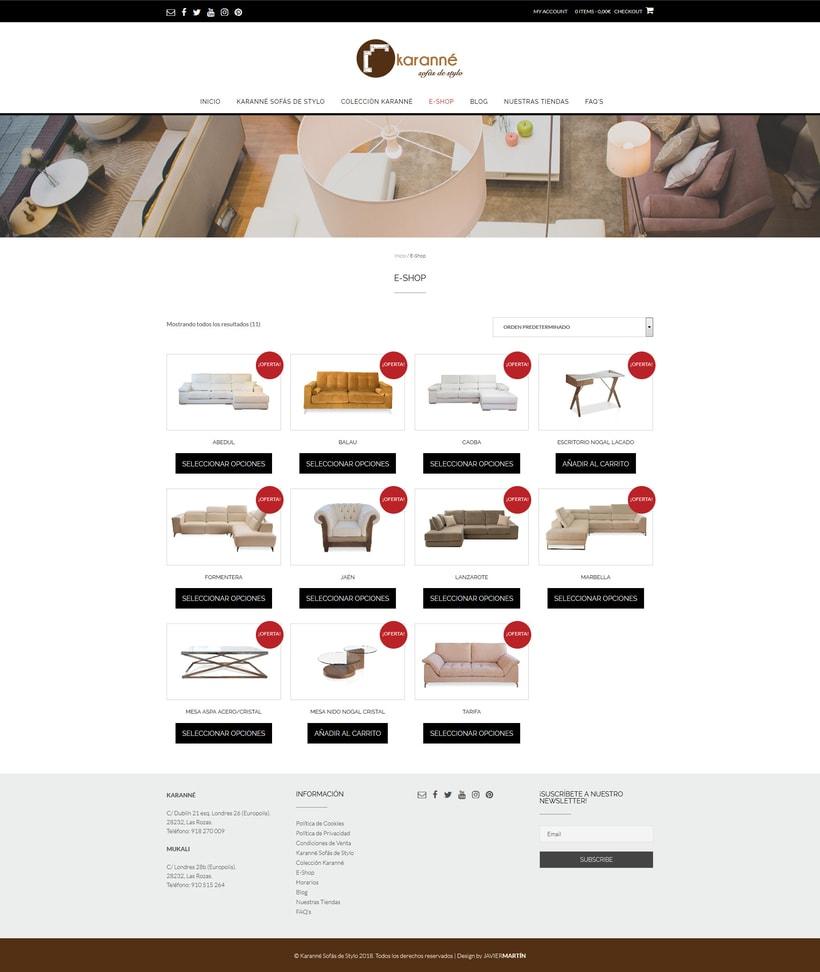 Web corporativa para Karanné Sofás de Stylo 1