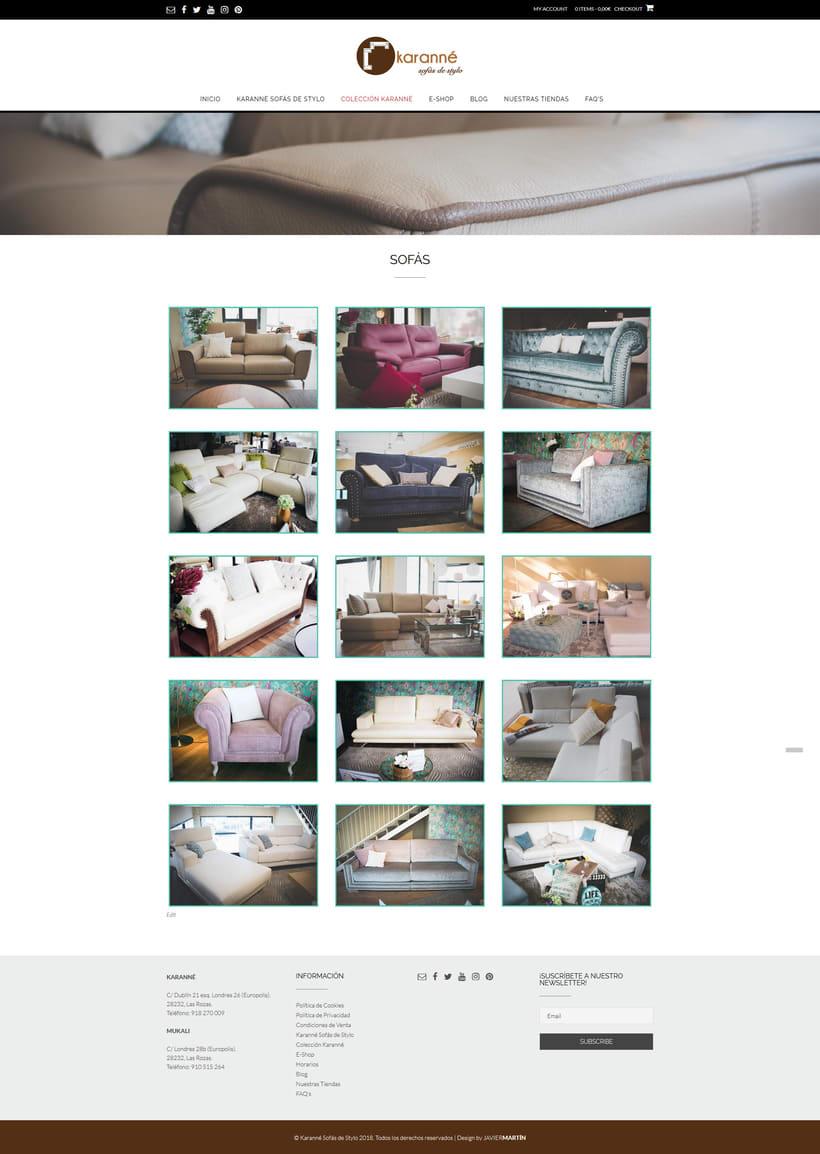 Web corporativa para Karanné Sofás de Stylo 2