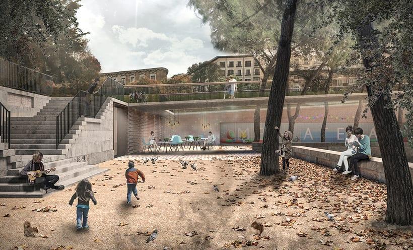 Infografía Plaza de España, Madrid 3