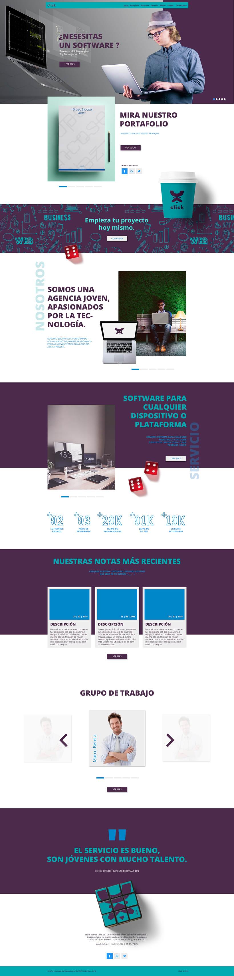 Diseño Web | Maqueta | Click | Avance  -1