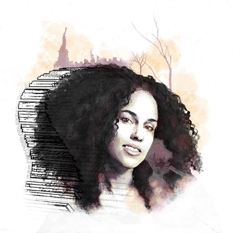 'Alicia'. Proyecto del curso: Retrato ilustrado con Photoshop -1