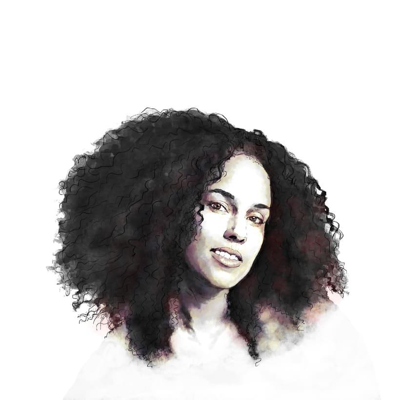 'Alicia'. Proyecto del curso: Retrato ilustrado con Photoshop 0