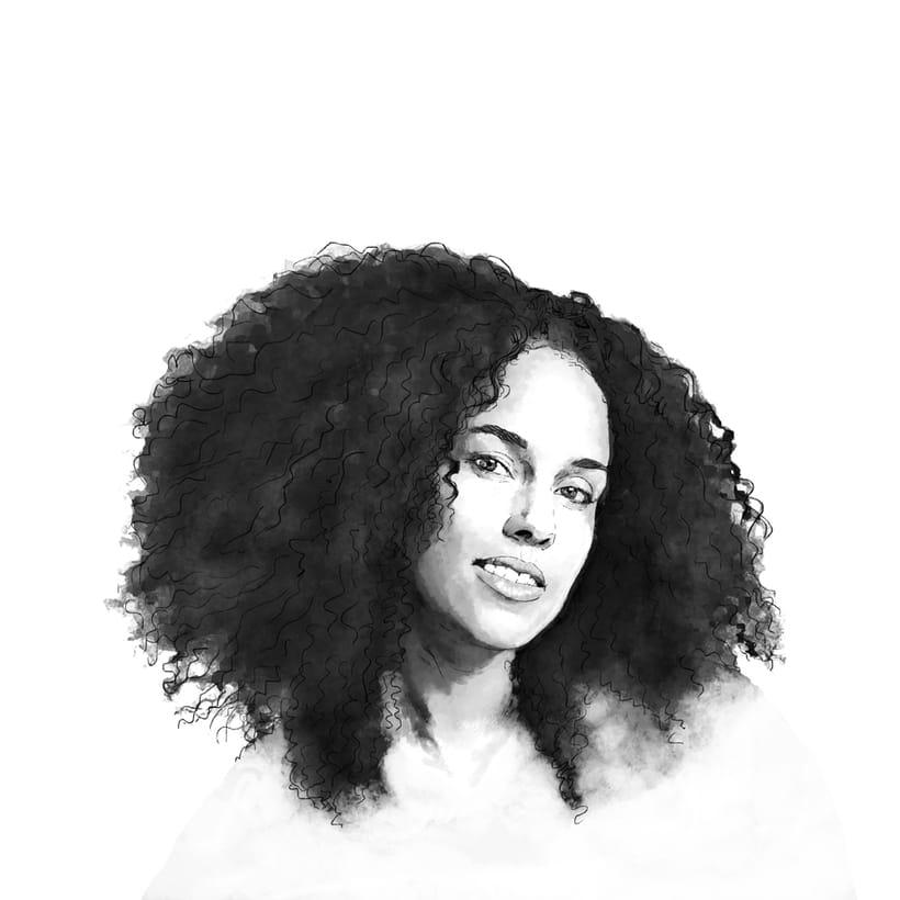 'Alicia'. Proyecto del curso: Retrato ilustrado con Photoshop 1