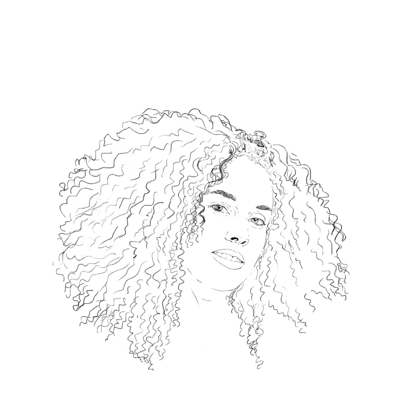 'Alicia'. Proyecto del curso: Retrato ilustrado con Photoshop 2