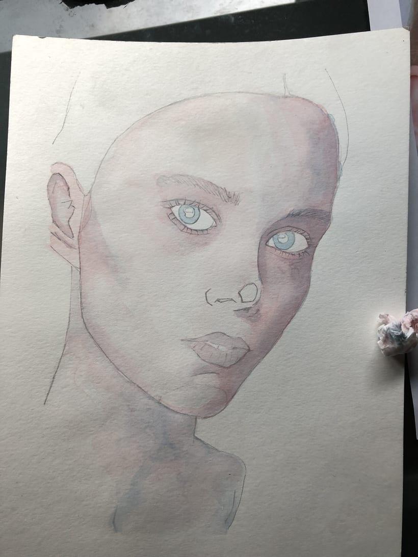 Mi Proyecto del curso: Retrato ilustrado en acuarela - Ivan Osorio 1