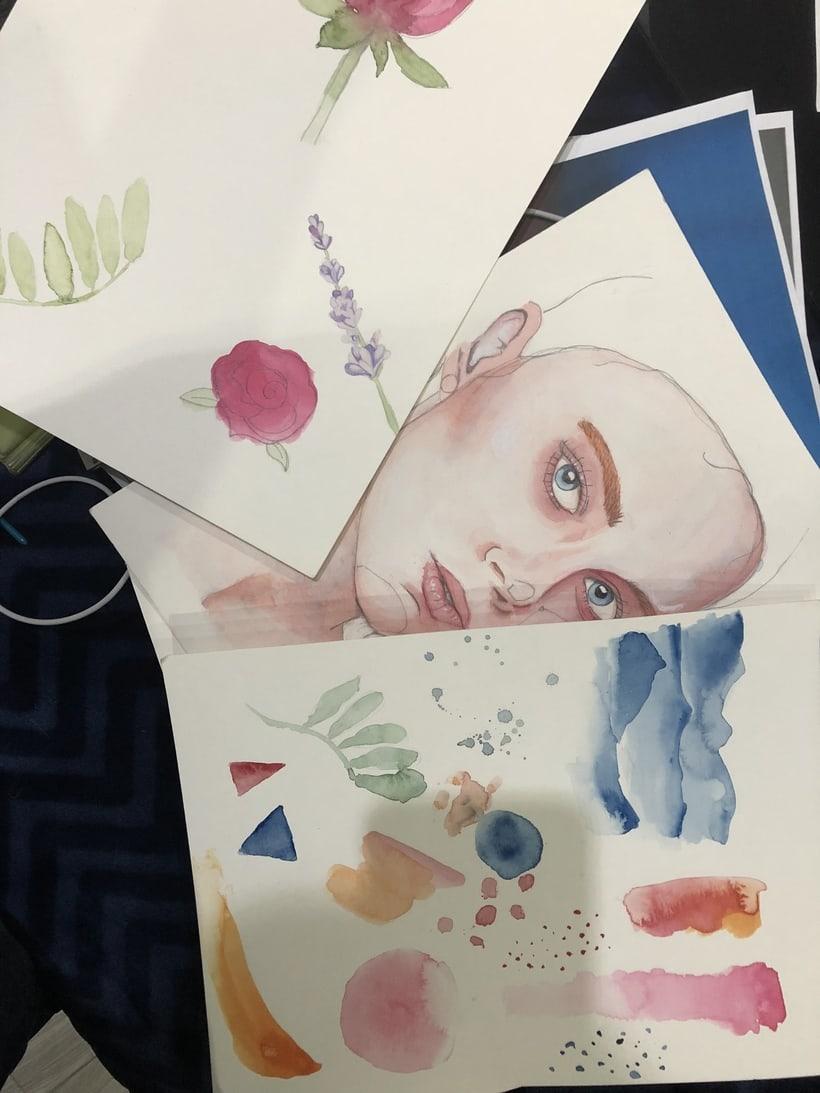 Mi Proyecto del curso: Retrato ilustrado en acuarela - Ivan Osorio 2