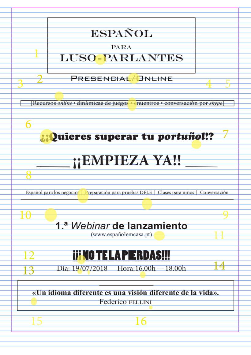 Cartel de clases de español 0