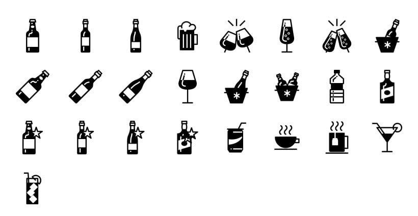 Bebidas - Set de Iconos Lipo 0