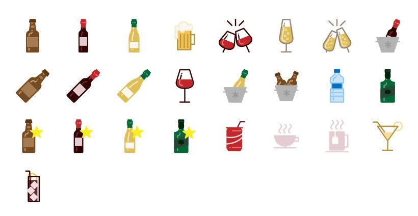 Bebidas - Set de Iconos Lipo 1