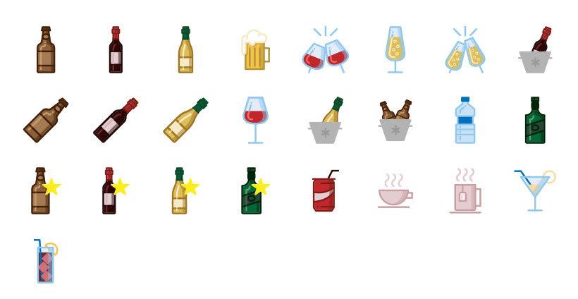 Bebidas - Set de Iconos Lipo 2
