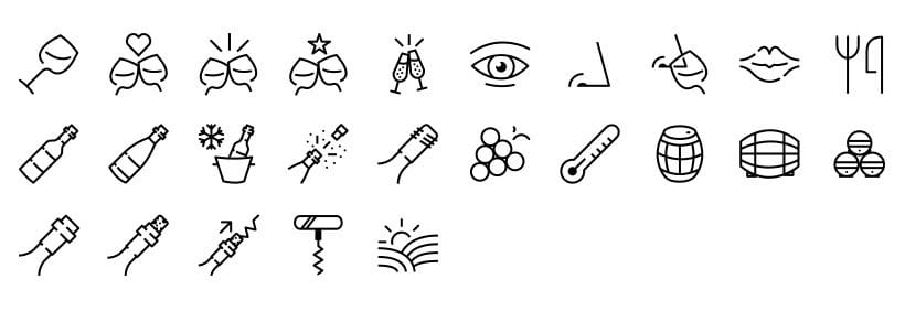 Vino - Set de iconos 0