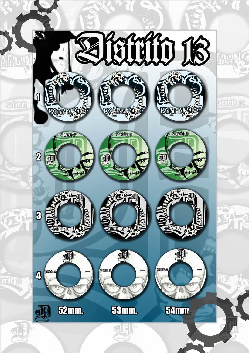 Colección ruedas skateboards  -1
