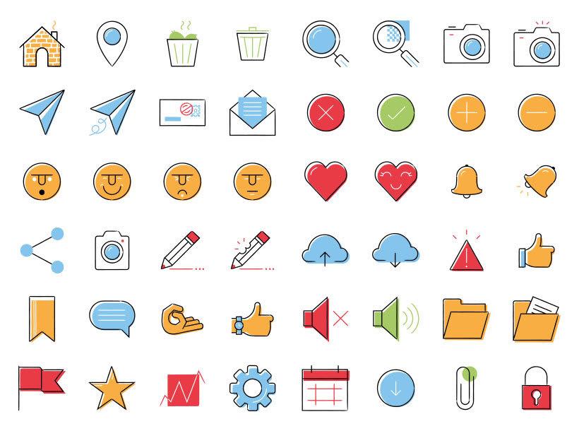 UI - Set de iconos Lipo 2