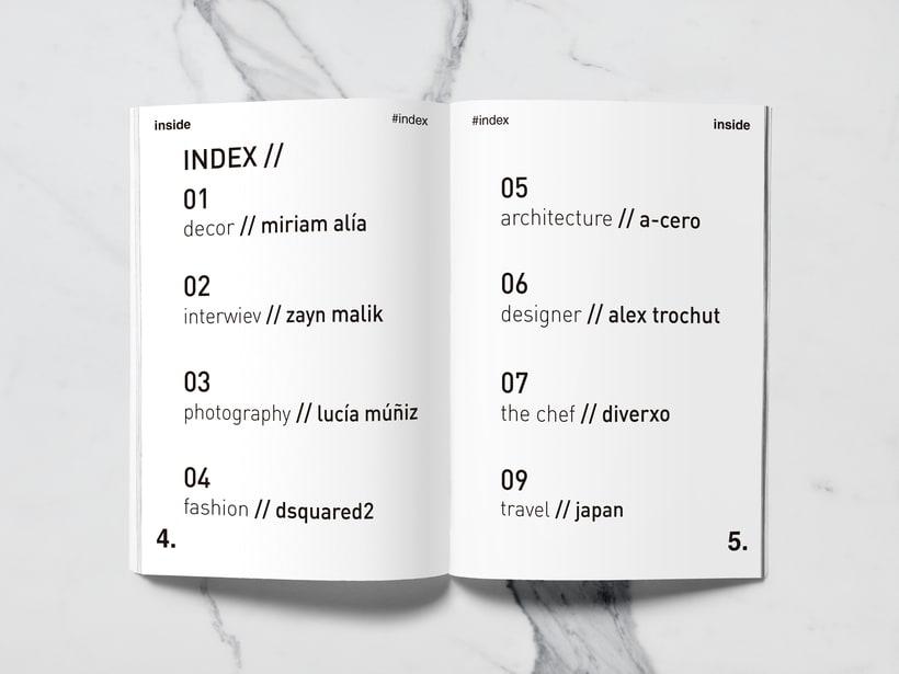 Mi Proyecto del curso: Introducción al Diseño Editorial//Inside Magazine 1