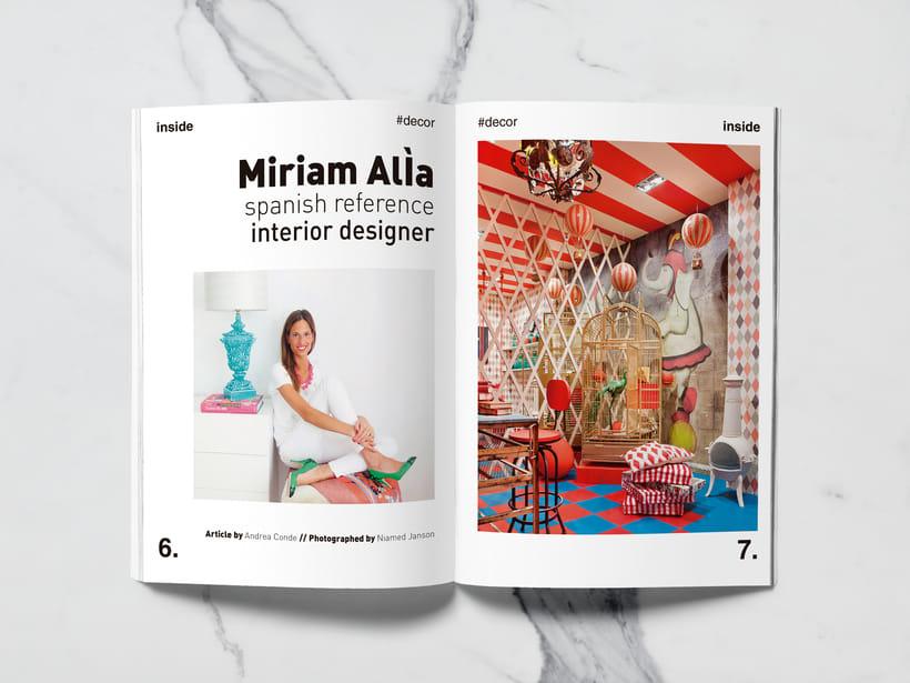 Mi Proyecto del curso: Introducción al Diseño Editorial//Inside Magazine 2