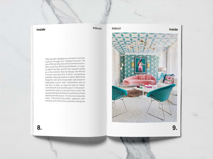 Mi Proyecto del curso: Introducción al Diseño Editorial//Inside Magazine 3