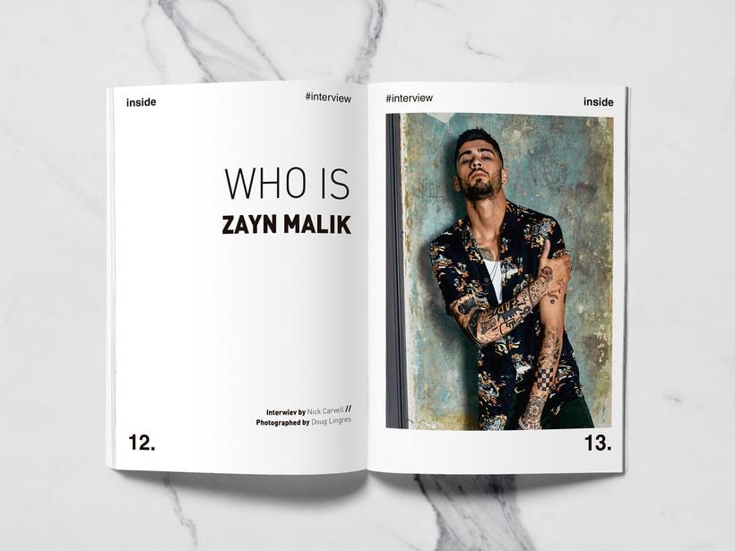 Mi Proyecto del curso: Introducción al Diseño Editorial//Inside Magazine 5