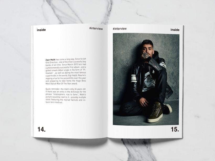 Mi Proyecto del curso: Introducción al Diseño Editorial//Inside Magazine 6