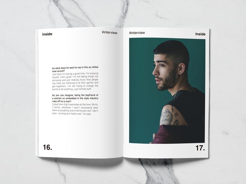 Mi Proyecto del curso: Introducción al Diseño Editorial//Inside Magazine 7