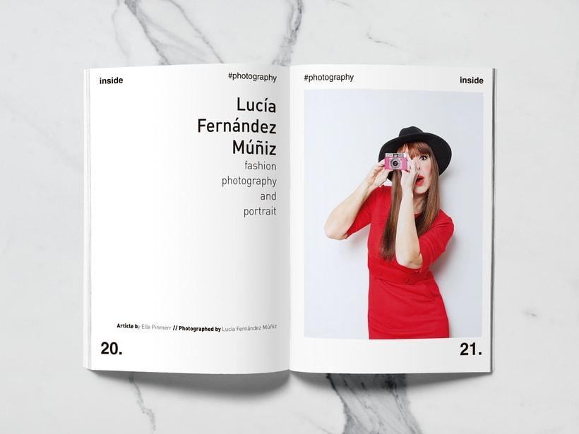 Mi Proyecto del curso: Introducción al Diseño Editorial//Inside Magazine 9