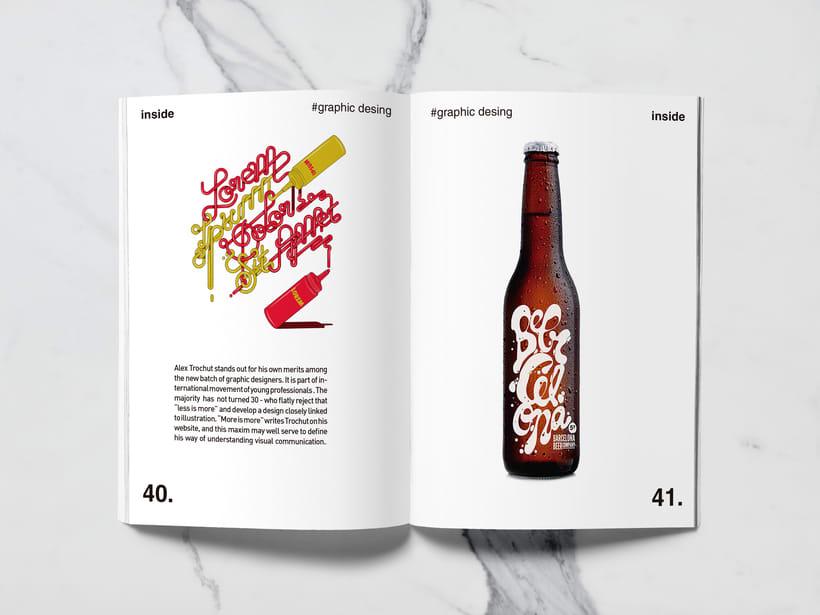 Mi Proyecto del curso: Introducción al Diseño Editorial//Inside Magazine 18