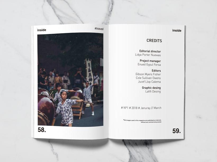 Mi Proyecto del curso: Introducción al Diseño Editorial//Inside Magazine 27