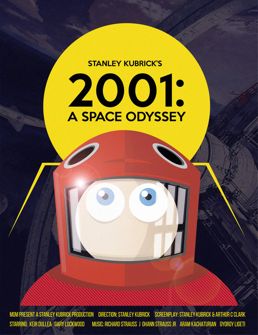 Poster tributo 2001: A Space Odyssey -1