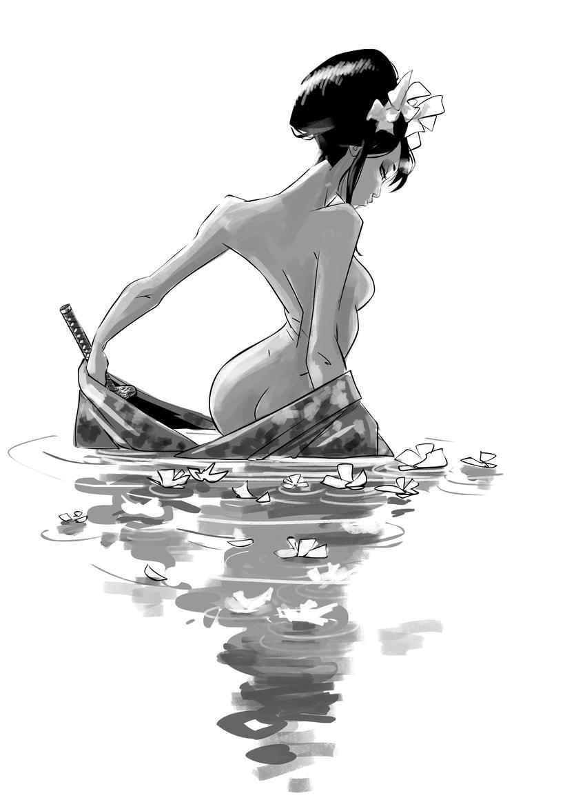 Baño en el estanque. 1