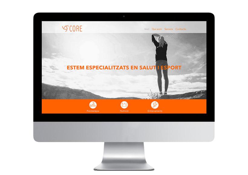 Core. Branding para un centro de la salud i el deporte. 1