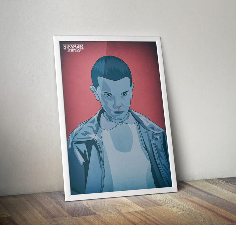 Diseño de póster sobre la serie Stranger Things -1