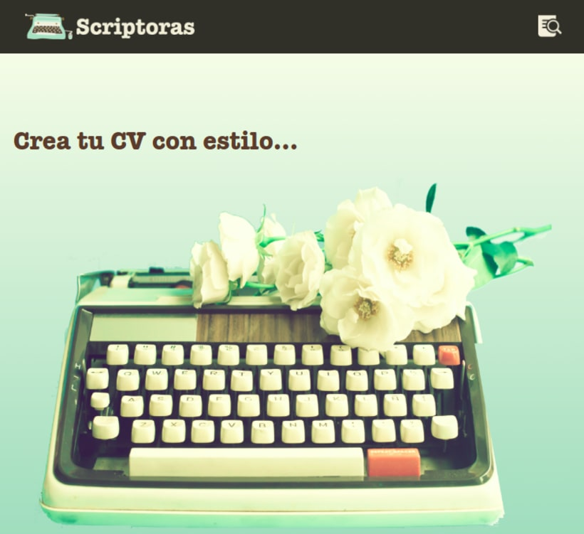 Scriptoras. Crea tu CV 0