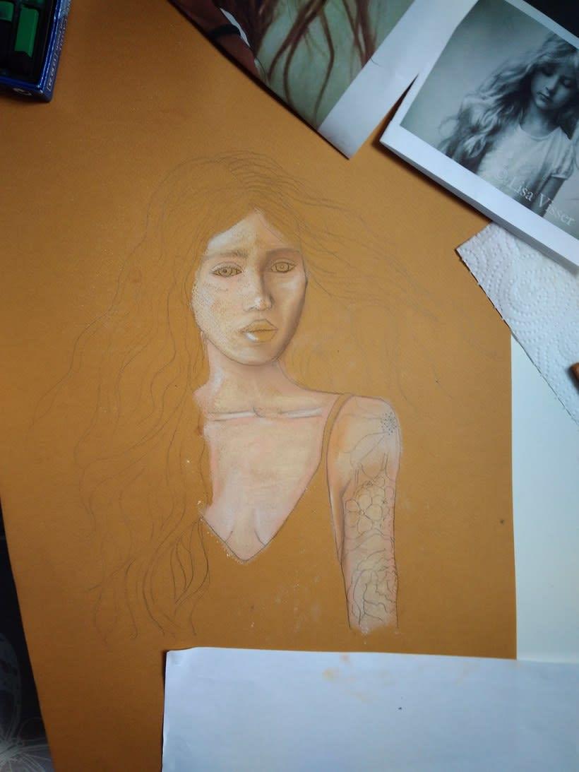 Mi Proyecto del curso: Ilustración con pastel y lápices de colores 2