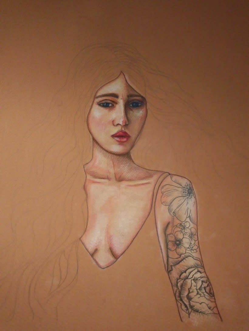 Mi Proyecto del curso: Ilustración con pastel y lápices de colores 3