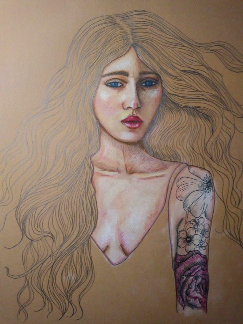 Mi Proyecto del curso: Ilustración con pastel y lápices de colores 4