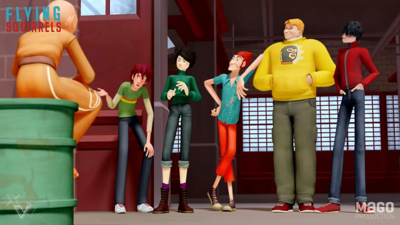 The Flying Squirrels. Serie de animación 3D/2D para TV. (26x13') 0