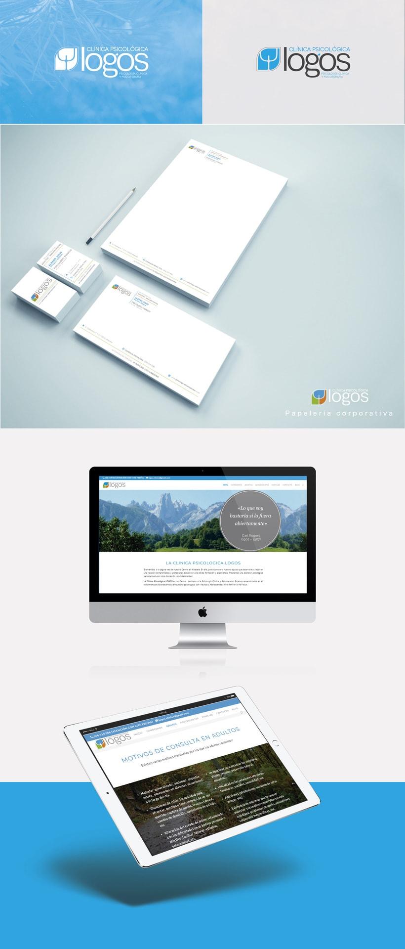 Diseño identidad corporativa · Diseño y desarrollo web Wordpress Clínica Logos Albacete 0