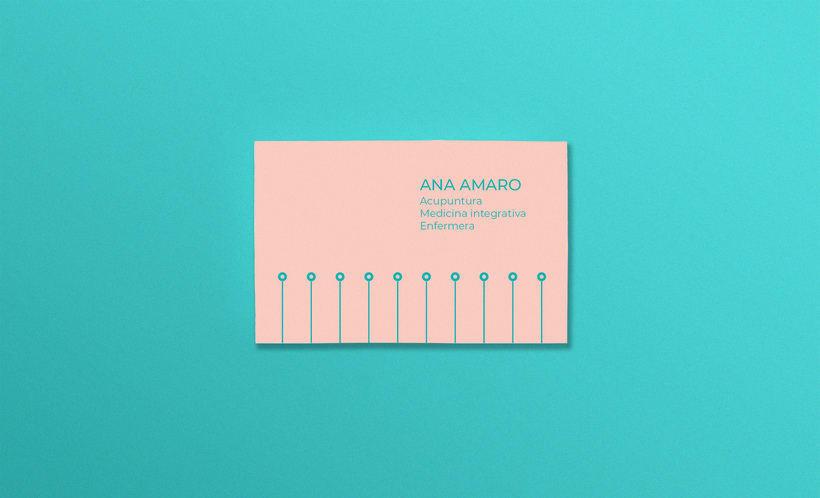 Acupuntura. Tarjeta de visita para Ana Amaro 0