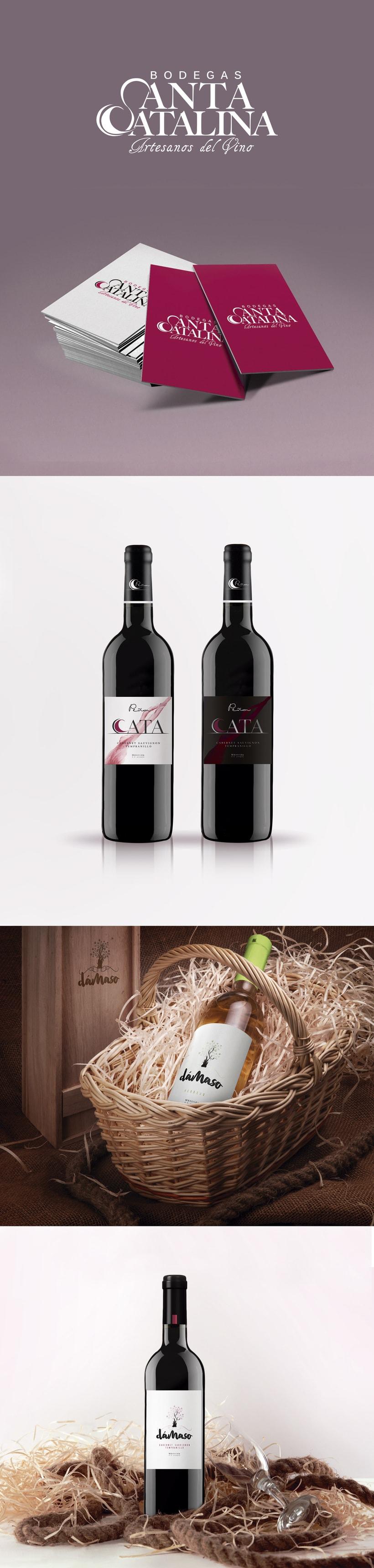 Branding · Diseño de etiquetas de vino Bodegas Santa Catalina -1