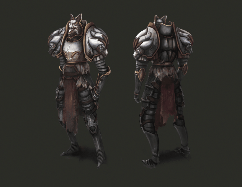 Dueldice - Character desing Wolf 2