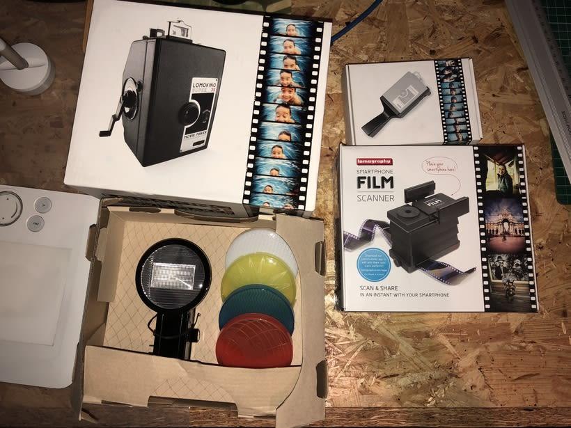 Vendo Kit Lomokino super 35 y escaner de pelicula para smartphone 1