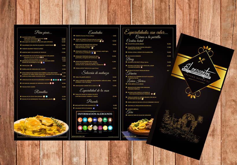 Menú Restaurante El Encuentro -1