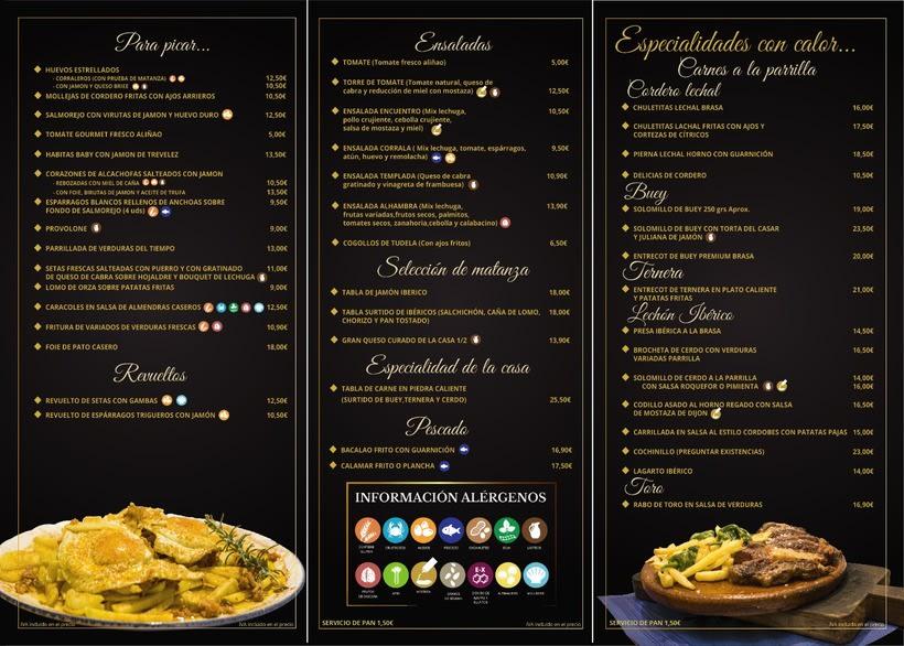 Menú Restaurante El Encuentro 1