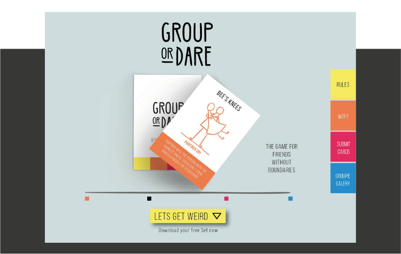 GROUP OR DARE / CARDS GAME 3