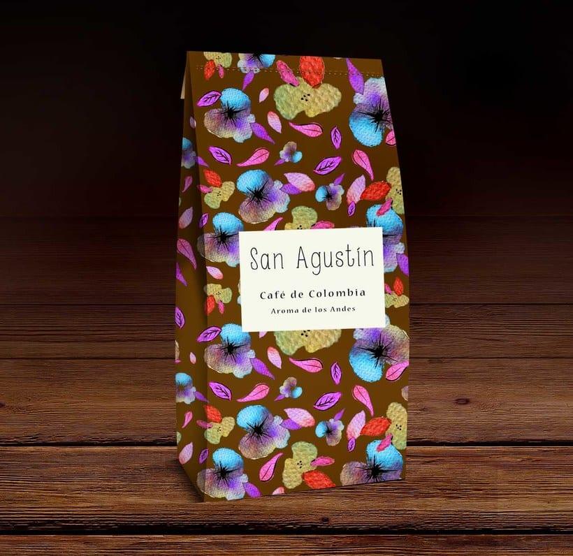 Café San Agustín de Colombia. Está inspirado en las faldas de las campesinas y recolectores de café de Colombia. Su colorido me recuerda el folclor de las montañas Andinas, la fiestas y su aroma. 0