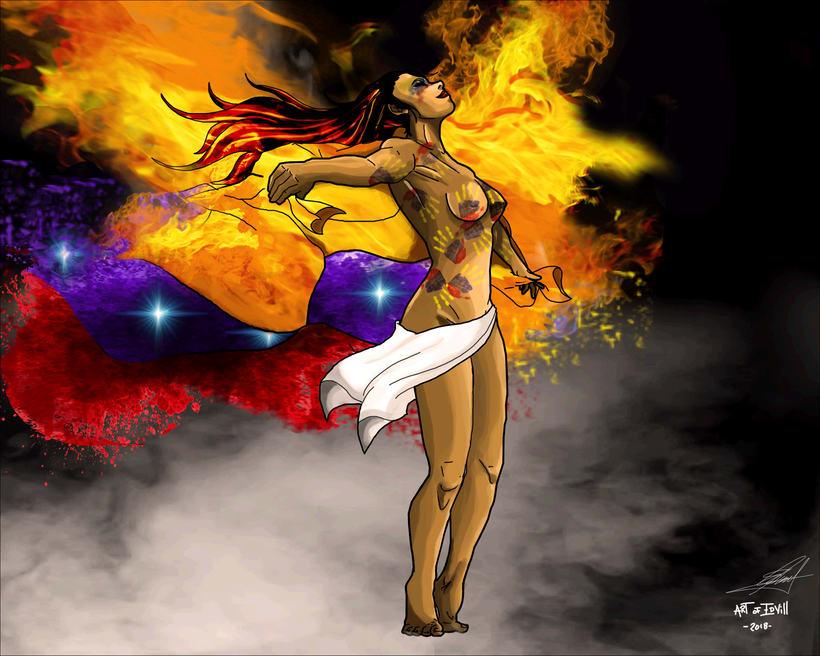 LIBERTAD Dama Tricolor -1
