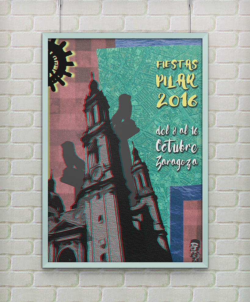 FIESTAS PILAR 2016 ZARAGOZA POSTER (Cartel finalista) 0