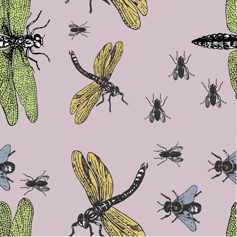 Insectos: Diseño de estampados textiles 2